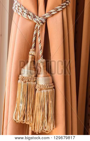a curtains tassel for interior luxury house