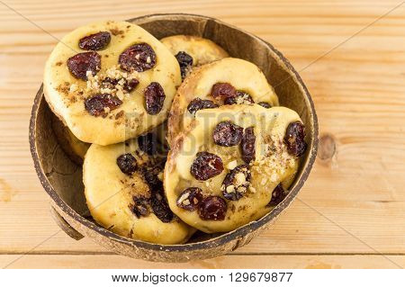 Homemade Cookies With Aronia And Cranberries