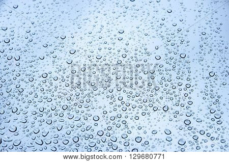 Water texture in blue with small drops