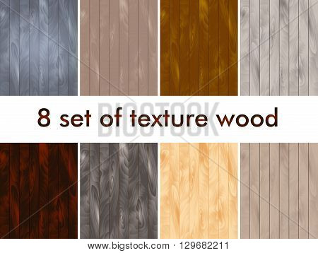 Set of vector wood texture. Background panels. Grunge  wooden texture. Vertical stripes.