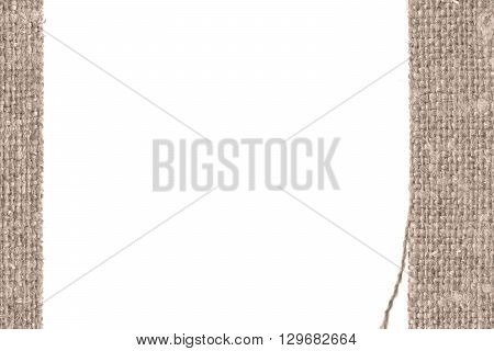 Textile structure fabric industry fawn canvas parchment material close-up background