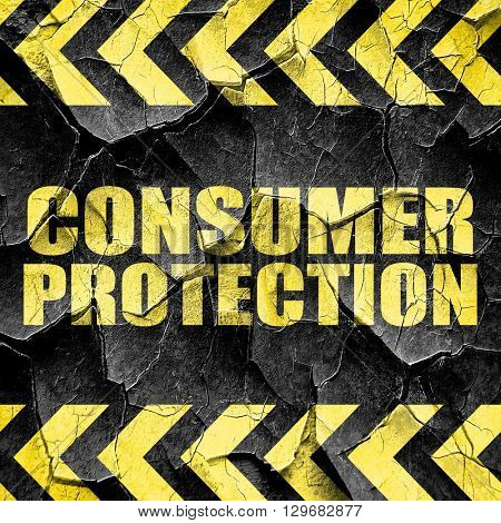 consumer protection, black and yellow rough hazard stripes