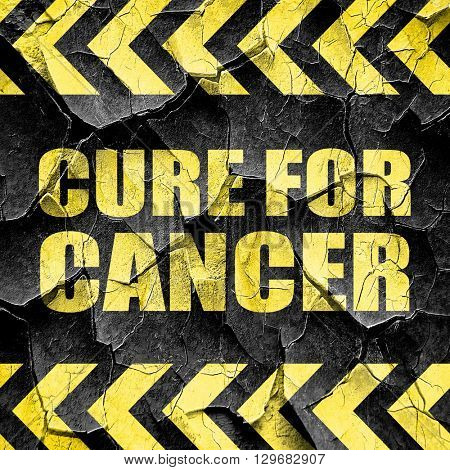 cure for cancer, black and yellow rough hazard stripes