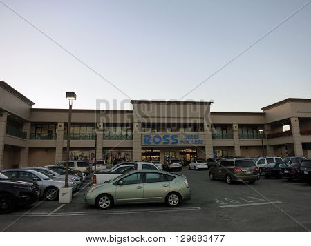 HONOLULU - FEBRUARY 12: Ross Dress For Less Store and Parking Lot in Kahala Mall on Oahu Hawaii February 12 2016. Ross Stores Inc. is an American chain of off-price department stores.