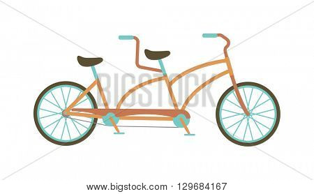 Tandem bike vector illustration.