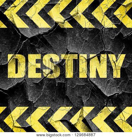 destiny, black and yellow rough hazard stripes