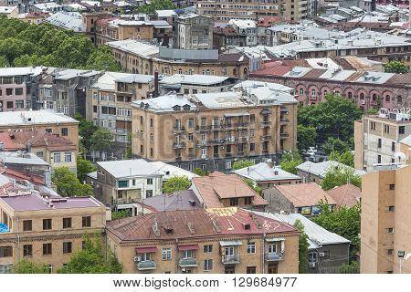 Yerevan, Armenia - May 02, 2016 :view Of Yerevan From Cascade,transcaucasia,armenia.