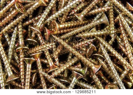Wood screw background group of gross point wooden screws