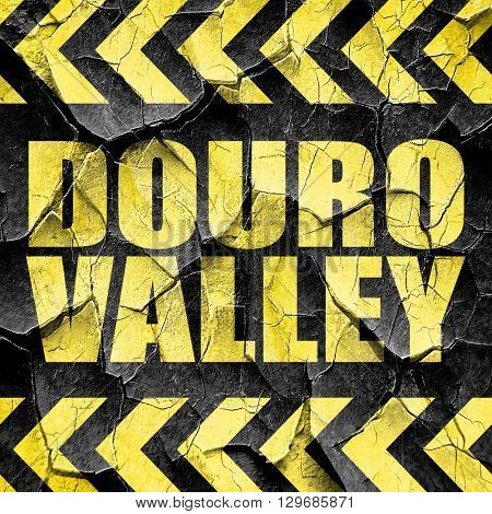 douro valley, black and yellow rough hazard stripes