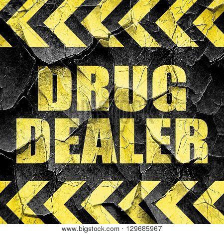 drug dealer, black and yellow rough hazard stripes