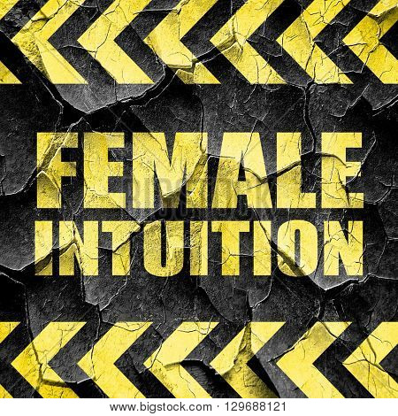 female intuition, black and yellow rough hazard stripes
