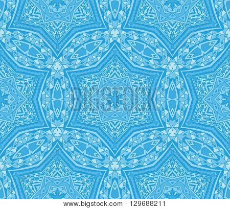 Abstract winter frosty background seamless vector pattern