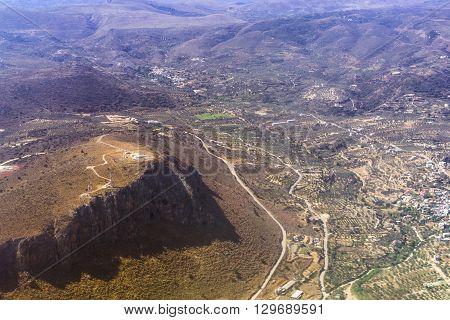 Aerial View Of Crete Island, Greece