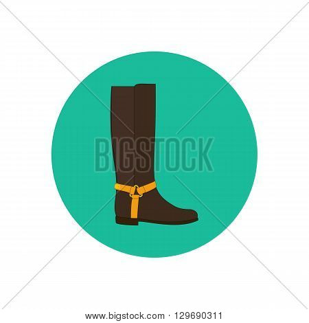 Boots shoes illustration. Low heels boots. Vector illustration