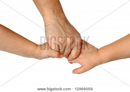 Mother-Son-Daughter-Hands