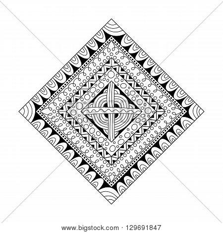 Abstract rhomb pattern doodle  style. Decorative element