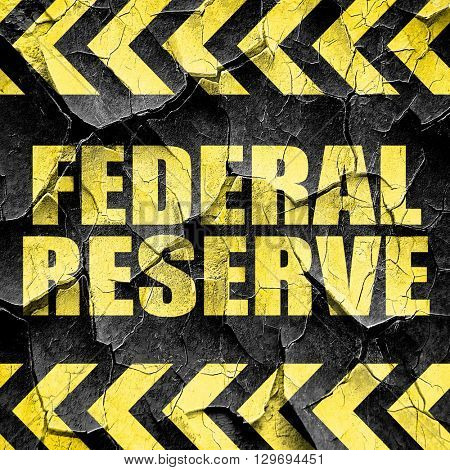 federal reserve, black and yellow rough hazard stripes