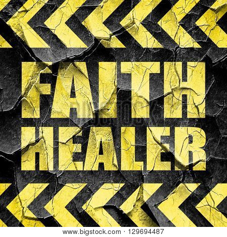 faith healer, black and yellow rough hazard stripes