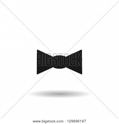 bow tie black web icon, thin line illustration for mobile app color picture on a white isolated background with shadow