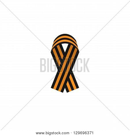 St. George ribbon color web icon, thin line illustration for mobile app color picture on a white isolated background