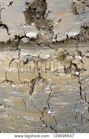 Scraped Excavated Mud Texture Background