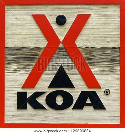 Koa Campground Sign And Logo