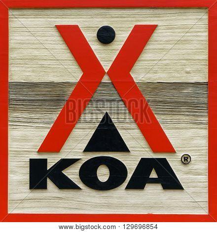 Koa Campground Sign And Logo