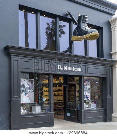 Dr. Martens Retail Store Exterior And Logo.