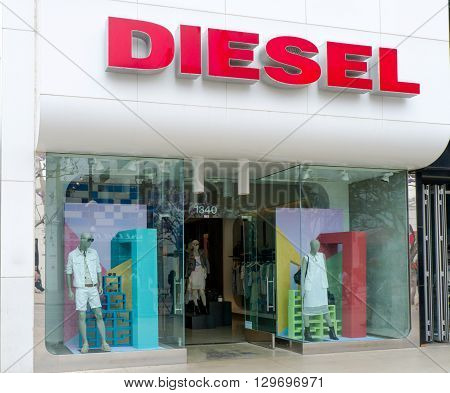 Diesel Retail Storefront And Logo