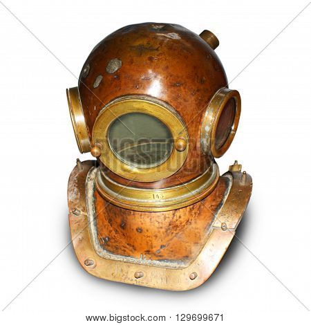 Deep Diving Gear isolated on a white background