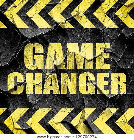 game changer, black and yellow rough hazard stripes