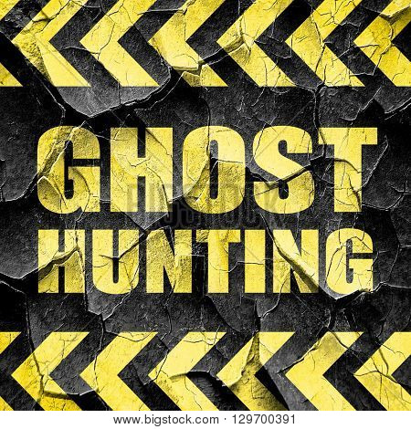 ghost hunting, black and yellow rough hazard stripes