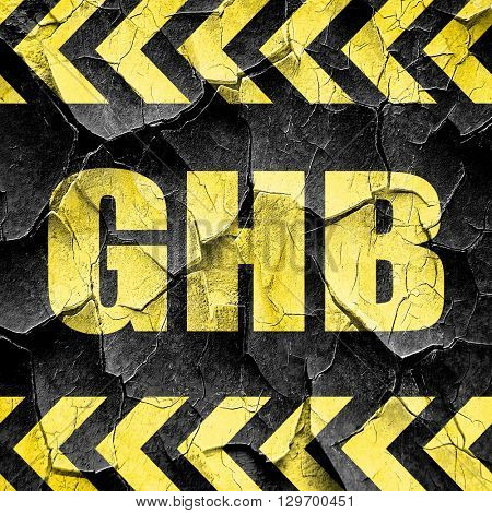 ghb, black and yellow rough hazard stripes