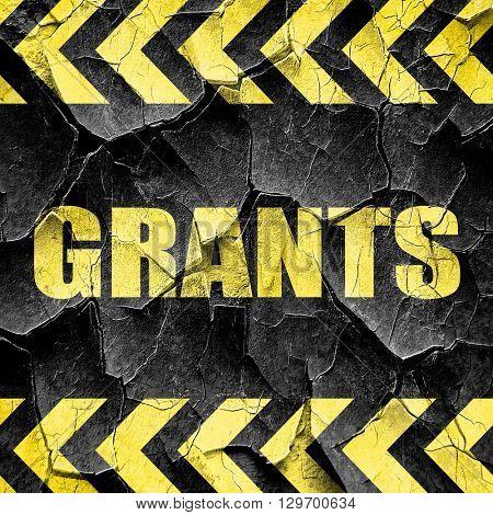 grants, black and yellow rough hazard stripes
