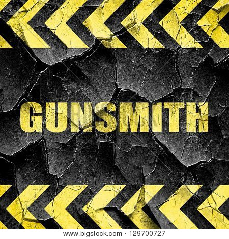 gunsmith, black and yellow rough hazard stripes