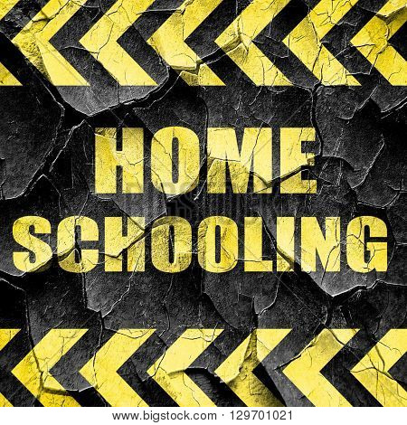 homeschooling, black and yellow rough hazard stripes