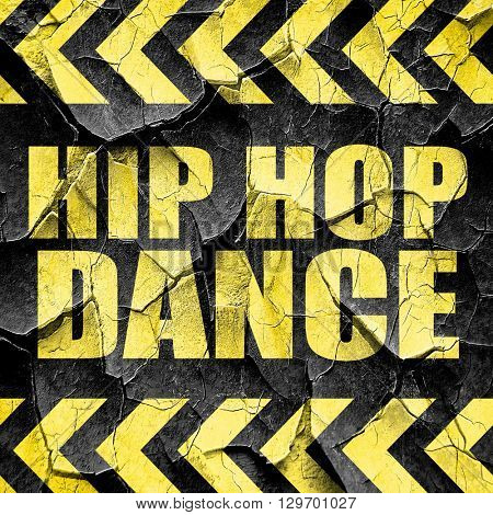 hip hop dance, black and yellow rough hazard stripes