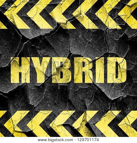 hybrid, black and yellow rough hazard stripes