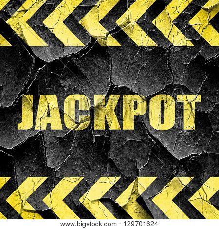 jackpot, black and yellow rough hazard stripes