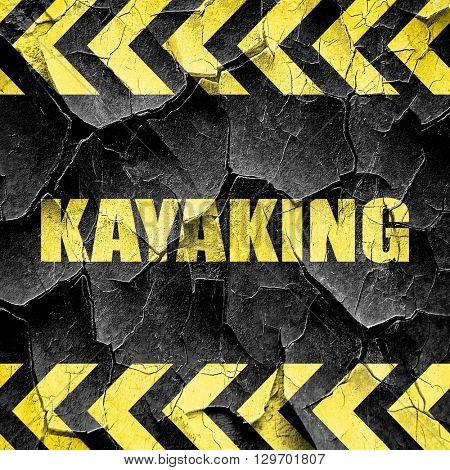 kayaking, black and yellow rough hazard stripes