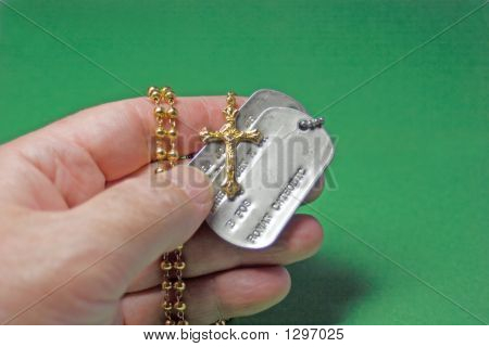 Rosary And Dog Tags