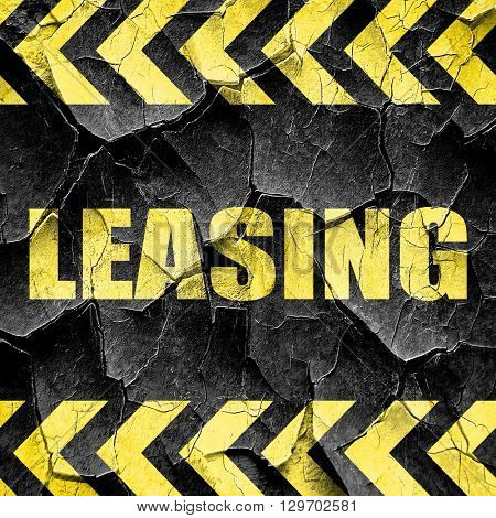 leasing, black and yellow rough hazard stripes