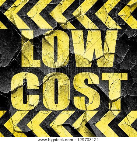 low cost, black and yellow rough hazard stripes