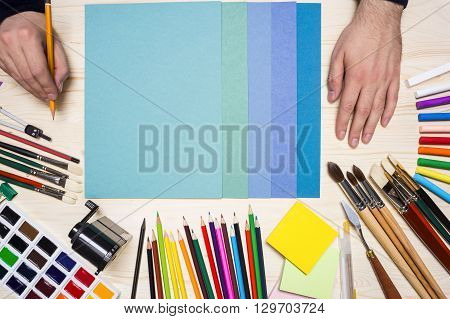 Artist And Colorful Tools