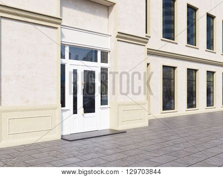 Shop Exterior With Blank Walls