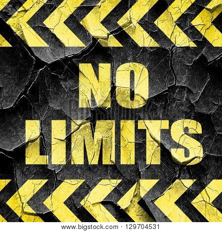 no limits, black and yellow rough hazard stripes