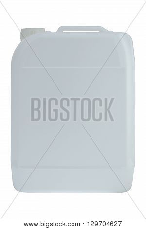 Plastic liquid detergent bottle isolated on a white background