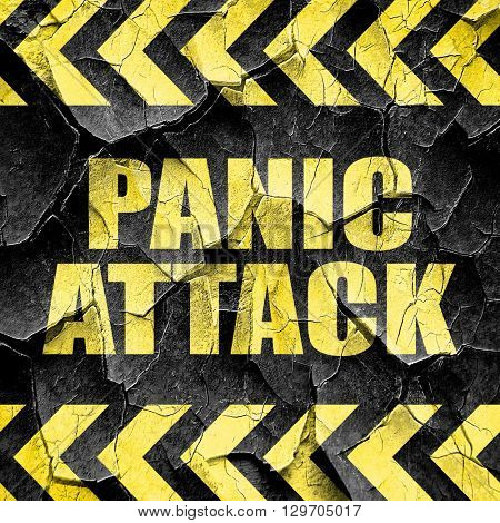 panic attack, black and yellow rough hazard stripes