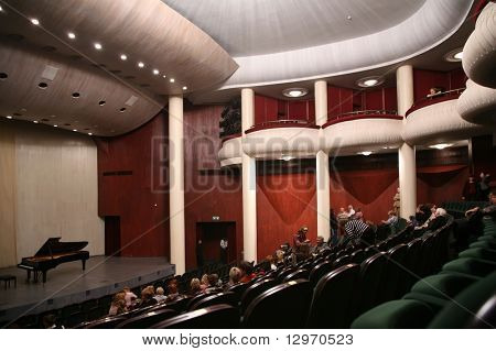 in concert hall