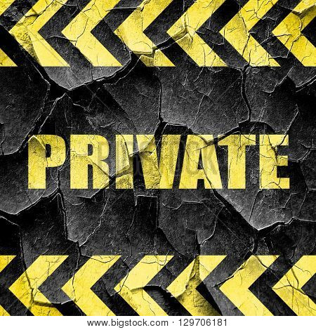 private, black and yellow rough hazard stripes